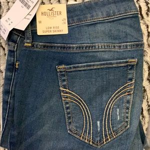 Hollister low rise super skinny jeans new 9R